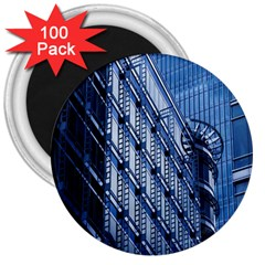 Building Architectural Background 3  Magnets (100 Pack) by Simbadda