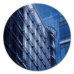 Building Architectural Background Magnet 5  (round) by Simbadda