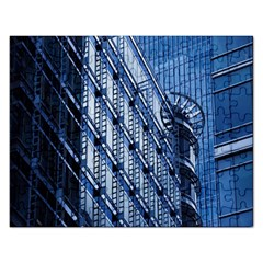 Building Architectural Background Rectangular Jigsaw Puzzl by Simbadda