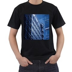 Building Architectural Background Men s T Shirt (black) (two Sided) by Simbadda