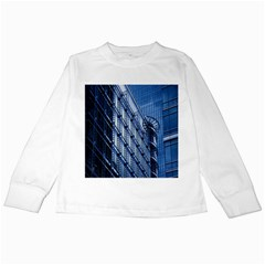 Building Architectural Background Kids Long Sleeve T Shirts