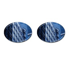 Building Architectural Background Cufflinks (oval) by Simbadda