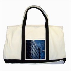 Building Architectural Background Two Tone Tote Bag by Simbadda