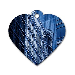 Building Architectural Background Dog Tag Heart (two Sides) by Simbadda