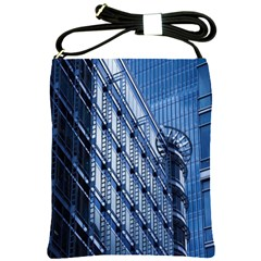 Building Architectural Background Shoulder Sling Bags by Simbadda