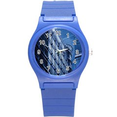 Building Architectural Background Round Plastic Sport Watch (s) by Simbadda