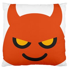 Devil Large Cushion Case (two Sides) by Alisyart