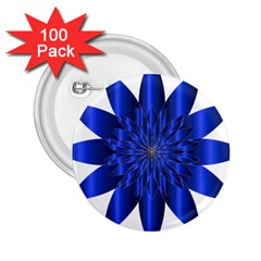 Chromatic Flower Blue Star 2 25  Buttons (100 Pack)  by Alisyart