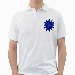 Chromatic Flower Blue Star Golf Shirts by Alisyart