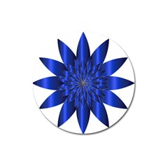 Chromatic Flower Blue Star Magnet 3  (round) by Alisyart