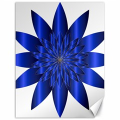 Chromatic Flower Blue Star Canvas 18  X 24   by Alisyart