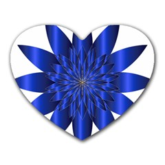Chromatic Flower Blue Star Heart Mousepads by Alisyart