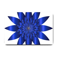 Chromatic Flower Blue Star Small Doormat