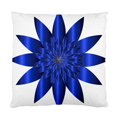 Chromatic Flower Blue Star Standard Cushion Case (two Sides)
