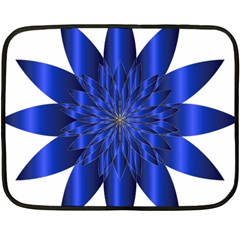 Chromatic Flower Blue Star Fleece Blanket (mini) by Alisyart