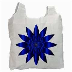 Chromatic Flower Blue Star Recycle Bag (one Side) by Alisyart