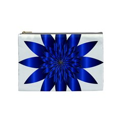 Chromatic Flower Blue Star Cosmetic Bag (medium)