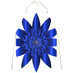 Chromatic Flower Blue Star Full Print Aprons