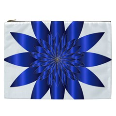 Chromatic Flower Blue Star Cosmetic Bag (xxl)