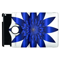 Chromatic Flower Blue Star Apple Ipad 2 Flip 360 Case by Alisyart
