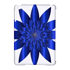 Chromatic Flower Blue Star Apple Ipad Mini Hardshell Case (compatible With Smart Cover)