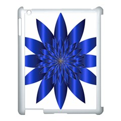 Chromatic Flower Blue Star Apple Ipad 3/4 Case (white)