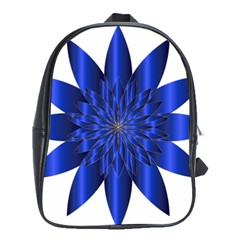 Chromatic Flower Blue Star School Bags (xl)  by Alisyart
