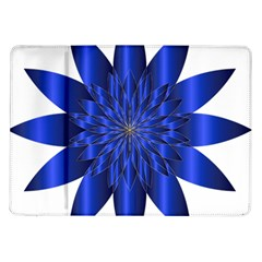 Chromatic Flower Blue Star Samsung Galaxy Tab 10 1  P7500 Flip Case