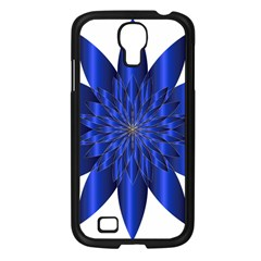 Chromatic Flower Blue Star Samsung Galaxy S4 I9500/ I9505 Case (black) by Alisyart