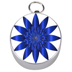 Chromatic Flower Blue Star Silver Compasses by Alisyart