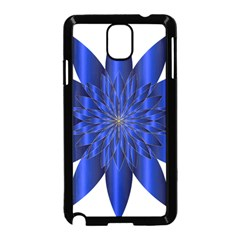 Chromatic Flower Blue Star Samsung Galaxy Note 3 Neo Hardshell Case (black)