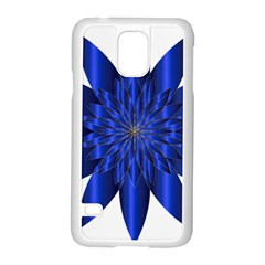 Chromatic Flower Blue Star Samsung Galaxy S5 Case (white)