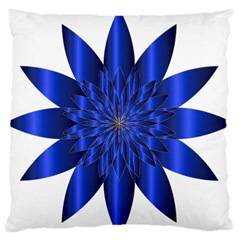 Chromatic Flower Blue Star Large Flano Cushion Case (one Side) by Alisyart