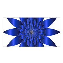 Chromatic Flower Blue Star Satin Shawl by Alisyart