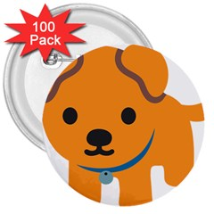 Dog 3  Buttons (100 Pack)  by Alisyart