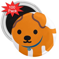 Dog 3  Magnets (100 Pack) by Alisyart