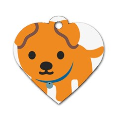 Dog Dog Tag Heart (two Sides)