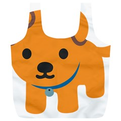Dog Full Print Recycle Bags (l)  by Alisyart
