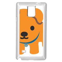 Dog Samsung Galaxy Note 4 Case (white) by Alisyart