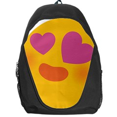 Emoji Face Emotion Love Heart Pink Orange Emoji Backpack Bag by Alisyart
