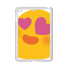 Emoji Face Emotion Love Heart Pink Orange Emoji Ipad Mini 2 Enamel Coated Cases