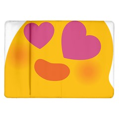 Emoji Face Emotion Love Heart Pink Orange Emoji Samsung Galaxy Tab 10 1  P7500 Flip Case