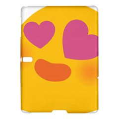 Emoji Face Emotion Love Heart Pink Orange Emoji Samsung Galaxy Tab S (10 5 ) Hardshell Case