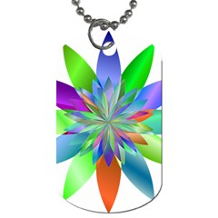 Chromatic Flower Variation Star Rainbow Dog Tag (one Side)