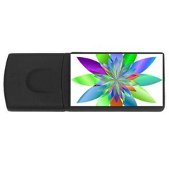 Chromatic Flower Variation Star Rainbow Usb Flash Drive Rectangular (4 Gb)