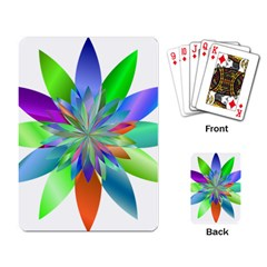 Chromatic Flower Variation Star Rainbow Playing Card by Alisyart