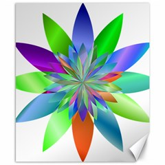 Chromatic Flower Variation Star Rainbow Canvas 8  X 10