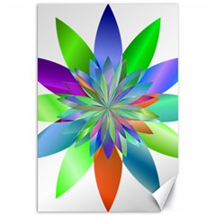 Chromatic Flower Variation Star Rainbow Canvas 20  X 30   by Alisyart