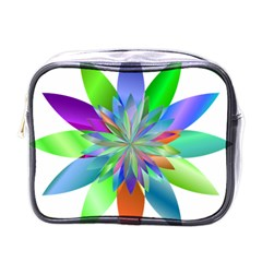 Chromatic Flower Variation Star Rainbow Mini Toiletries Bags by Alisyart