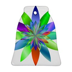 Chromatic Flower Variation Star Rainbow Bell Ornament (two Sides) by Alisyart